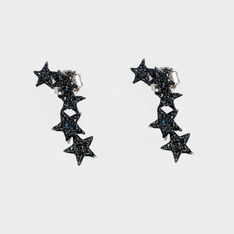 Blue Diamond star earrings